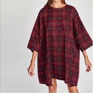 Zara Checkered Dress size M